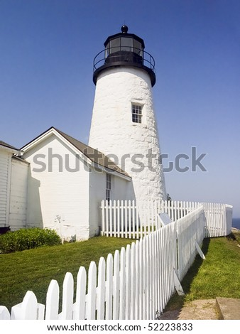 Pemaquid Point Lighthouse, Maine - stock photo