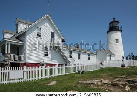 Pemaquid Point Lighthouse Maine, USA - stock photo