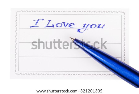 pen and badge with the inscription happy i love you isolated on a white background