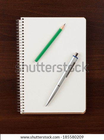 pen and blank paper - stock photo