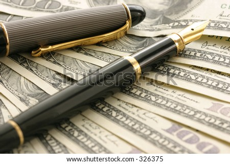 Pen and cash