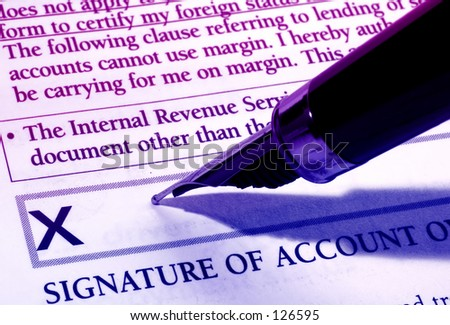Pen and Document - stock photo