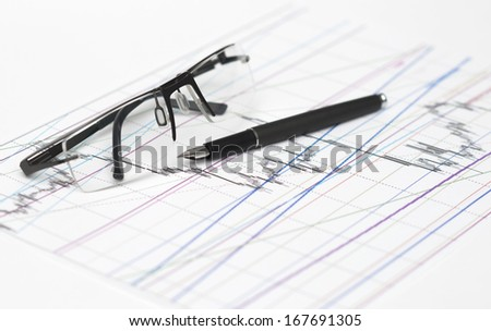 Pen and Eye Glasses