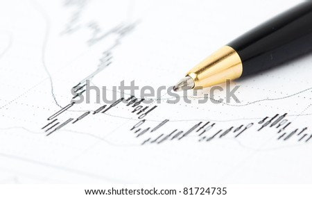 pen and line - stock photo