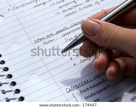 Pen and paper - stock photo