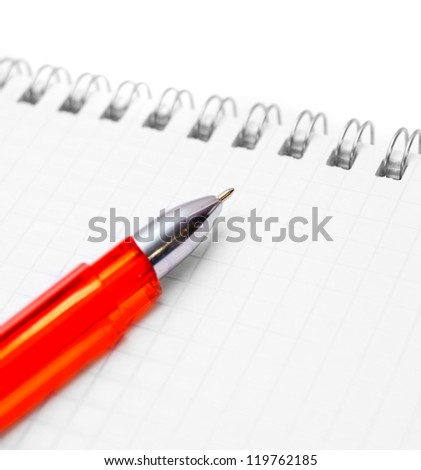 Pen and the calculator. - stock photo