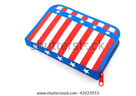 Pen case from America with stars and stripes