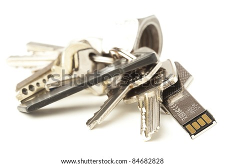pen drive isolated on a white background