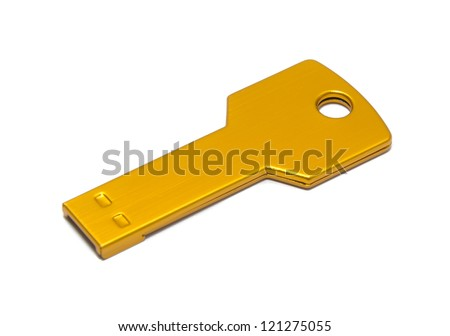 pen drive on the blackground - stock photo
