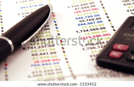 pen finance money - stock photo