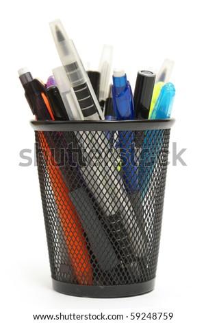 Pen Holder - stock photo