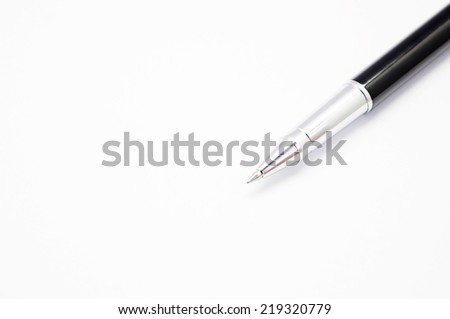 pen on a white background