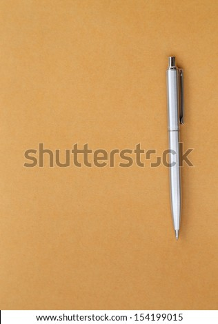 pen on the envelope blank for text - stock photo
