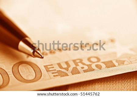 pen on the money euro
