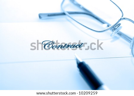 pen on the paper with text - stock photo