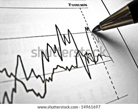 Pen showing diagram on financial report 21 - stock photo