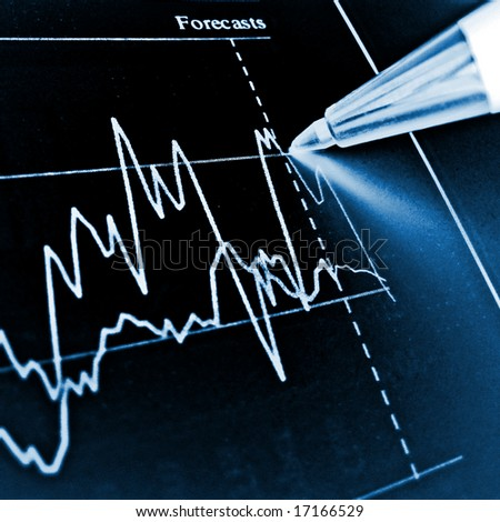 Pen showing diagram on financial report 27 - stock photo