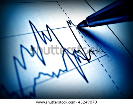 Pen showing diagram on financial report 36 - stock photo