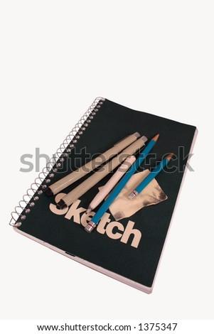 Pen Sketchbook - stock photo