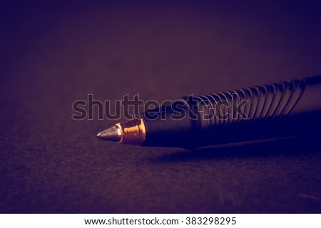 pen with filter effect retro vintage style - stock photo