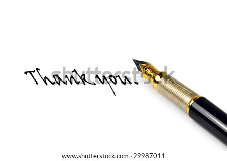 pen with written words Thank you - stock photo