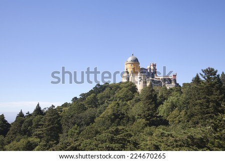 Pena palace in Sintra, Portugal; summer residence of the king