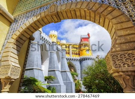 Pena palace, Sintra, Portugal - stock photo