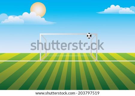 Penalty area. - stock photo