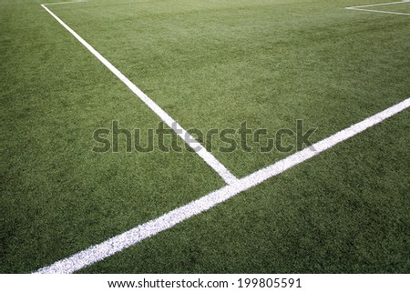 Penalty area marking on soccer field