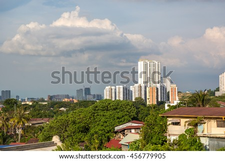 Penang, Malaysia - June 22nd 2016 - The city of Penang in a late afternoon in Malaysia.