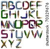 pencil alphabet raster version (jpg has work path included) - stock photo
