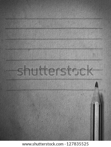 pencil and paper with line abstract for memory icon - stock photo