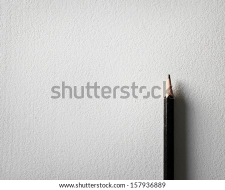pencil and white paper background - stock photo