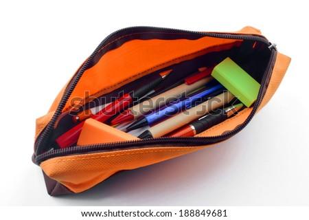 pencil case  - stock photo