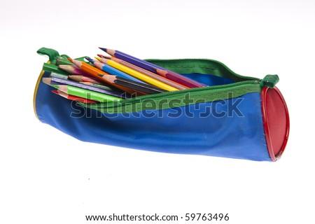 pencil-case - stock photo