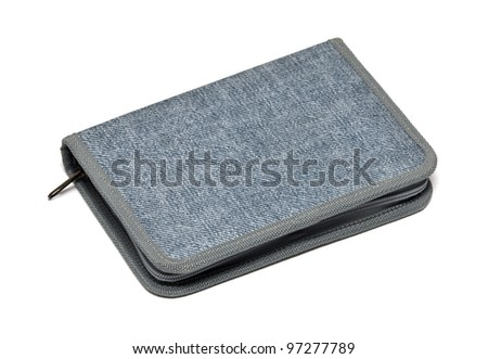 pencil-case on white background