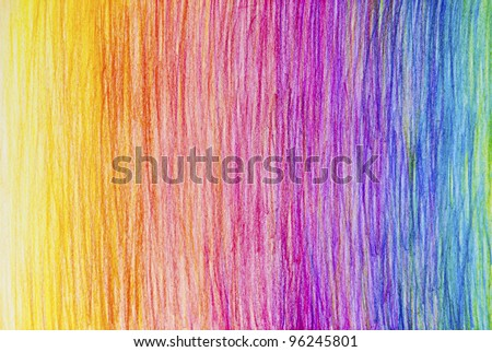 Pencil Color Rainbow Background - stock photo