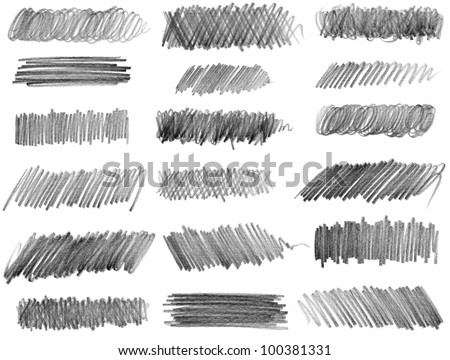 Pencil drawing. Raster version of vector image. - stock photo