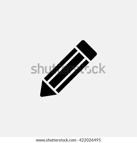 Pencil Icon. - stock photo
