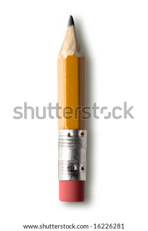 pencil isolated against white background - stock photo