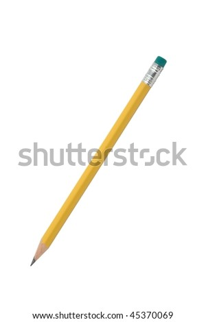 Pencil isolated on pure white - stock photo