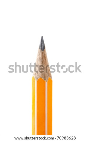 Pencil isolated on pure white background