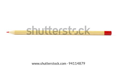 Pencil isolated on the white background - stock photo