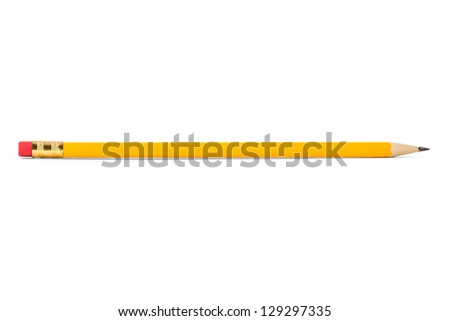 pencil isolated on white - stock photo