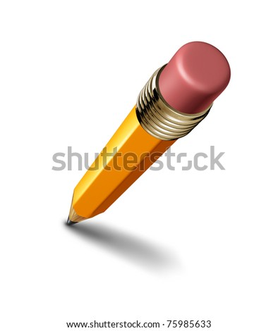 Pencil isolated on white background representing the concept of education and the freedom of artistic writing and drawing. - stock photo