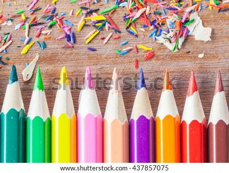 Pencil lead,Colorful pencil  - stock photo