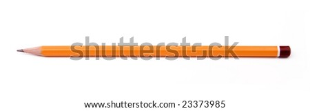 pencil on a white background - stock photo