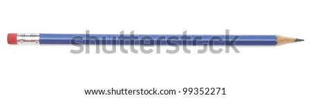 Pencil over white background - stock photo
