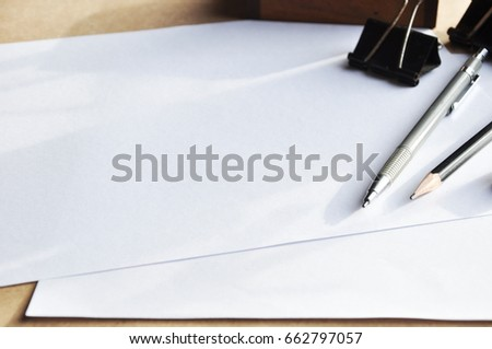 Pencil pen paper ruler book rubber stock photo safe to use pencil pen paper ruler book rubber and color pencil tool worker equipment do it yourself solutioingenieria Gallery