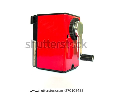 pencil sharpener - stock photo